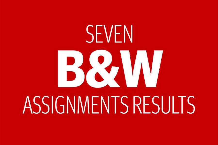 Seven B&W Assignments Resuts