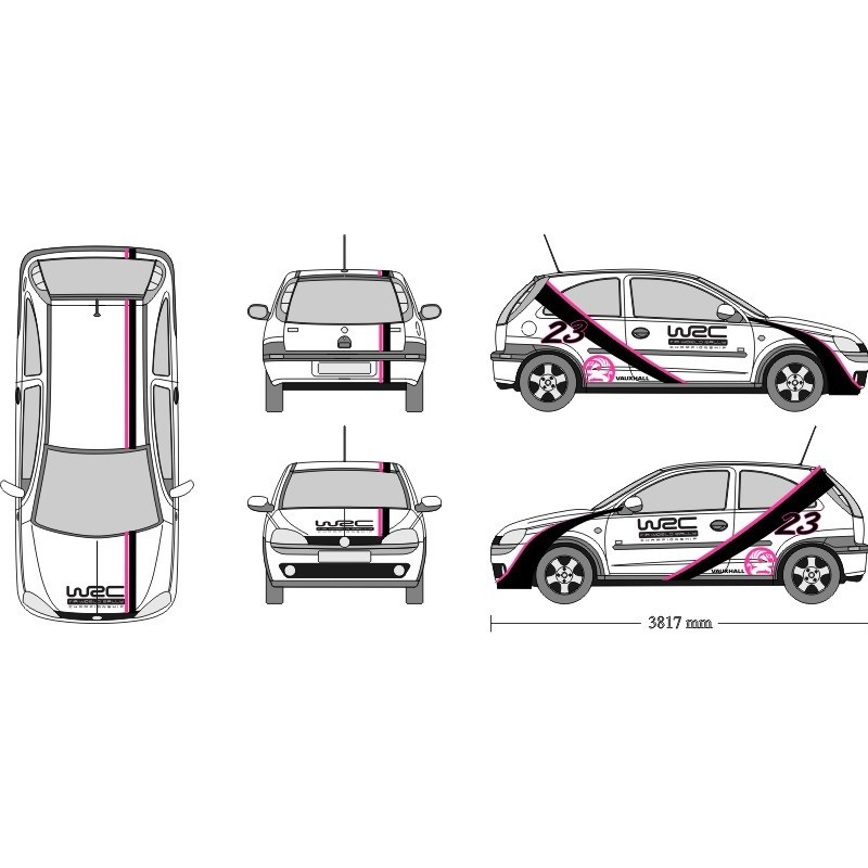 Vauxhall / Opel Corsa Full Graphics Kit