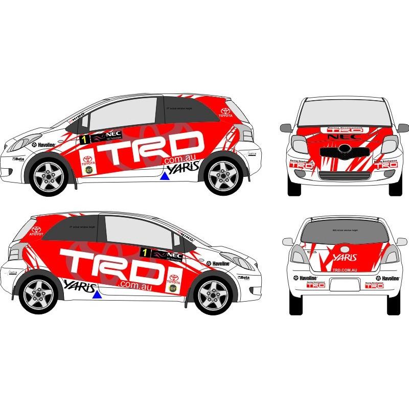 toyota yaris trd kit bemper grand new veloz 2011 wrc full rally graphics