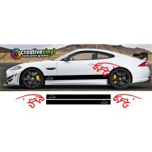 Jaguar Side Stripes And Graphics