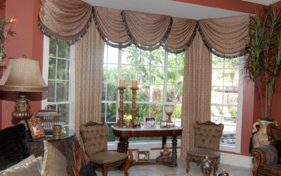 Board Mounted Bay Window Treatment