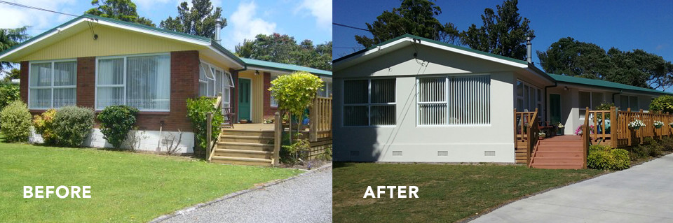 Before:after-reclad