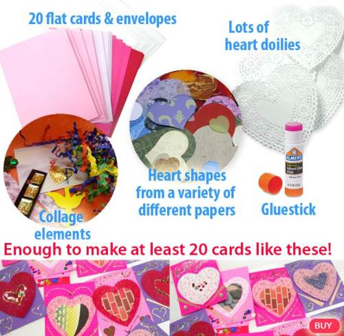 DIY Valentine card making kit