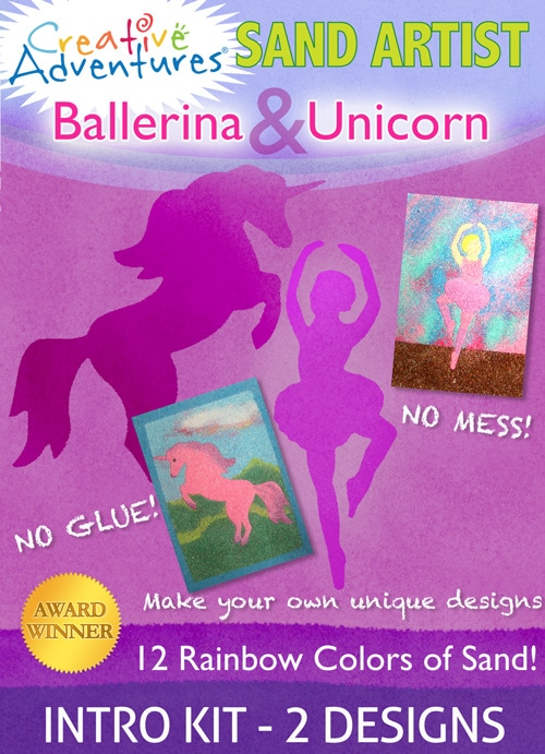 Sand Art Kit Ballerina & Unicorn