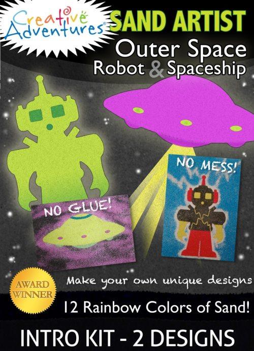 Sand Art Kit Robot & Spaceship