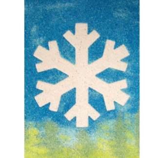 Sand Art Snowflake