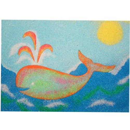 Sand Art Whale