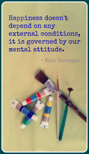Dale Carnegie on happiness - from the Creative + Mindful blog -  The Comfort of Day-Tight Compartments