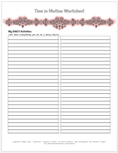 Time in Motion Worksheet