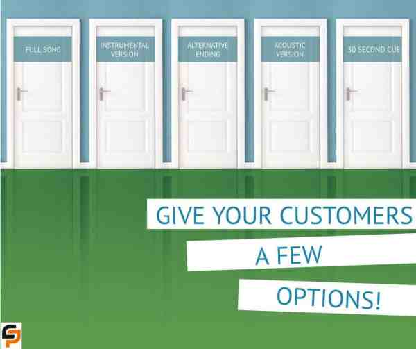 Give Your Customers Options