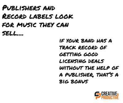 Publishers and record labels want music they can sell