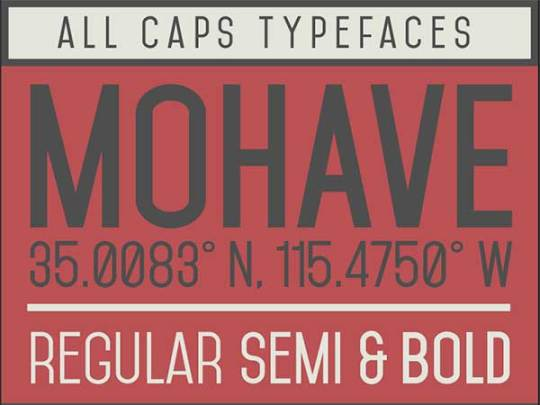 Mohave Best New Free Fonts 2014