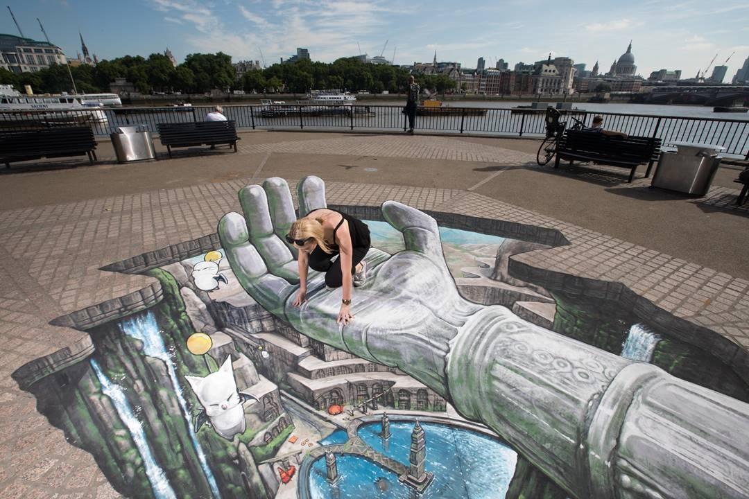 3D Joe And Maxs Mind Blowing Illusory Street Art Sink