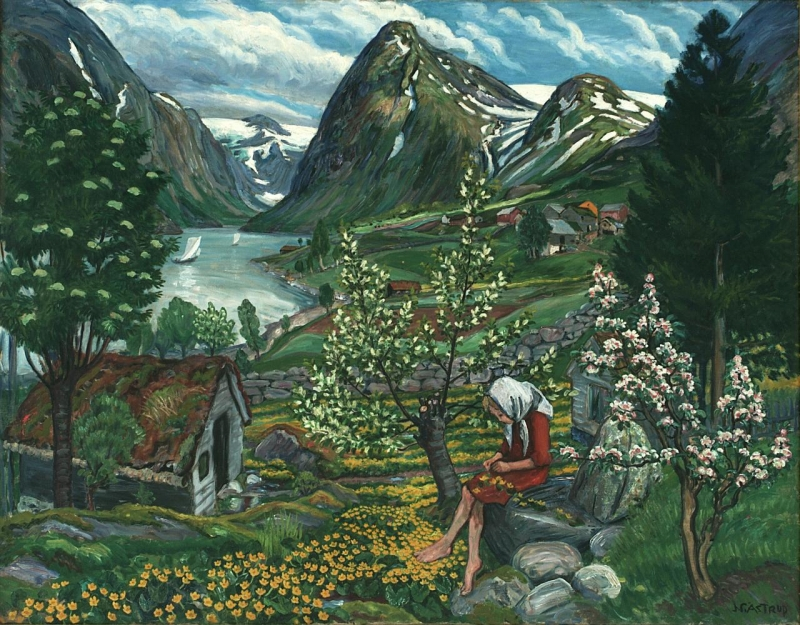 Painting Norway Beloved Artworks Of Norway By Nikolai