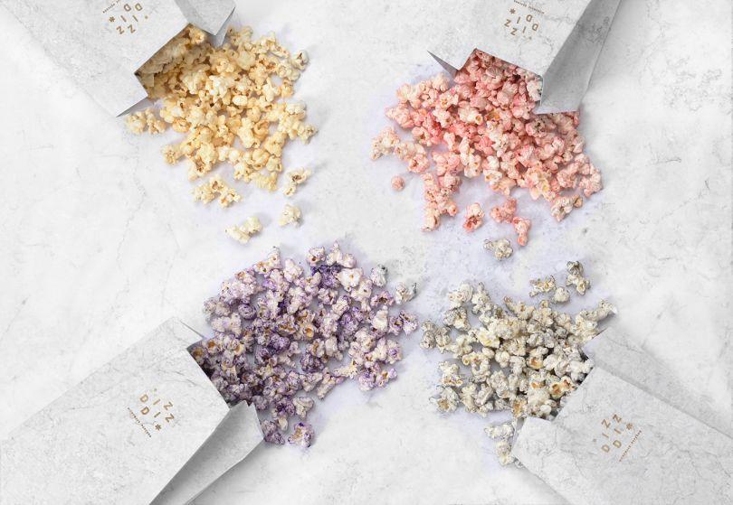 diz diz popcorn packaging design that