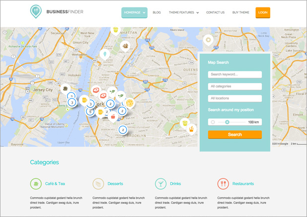 Business finder - Directory theme
