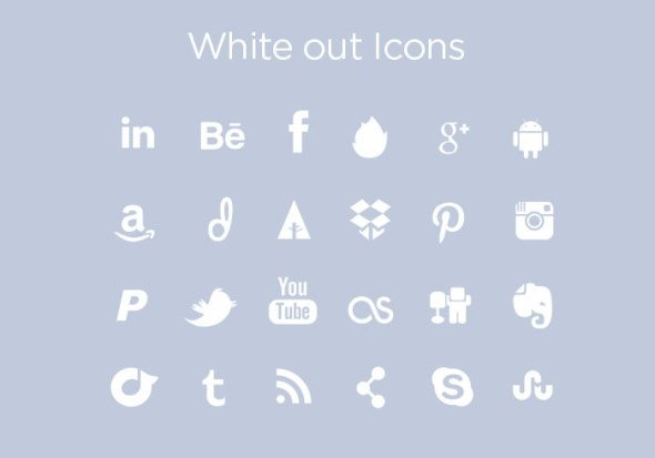 White out Icons