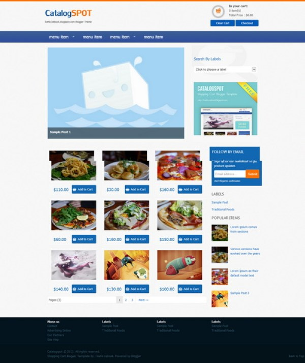 Cataloge - Commerce Grid blogger template