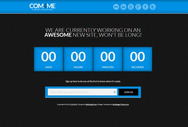 COM4ME Blogger Template for Under construction