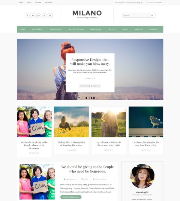 Milano - Blogger who is looking for free responsive theme