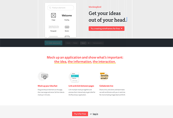 Mocking Bird website mockup creator