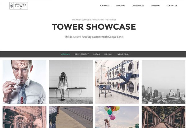 Tower simple sordpress portfolio theme