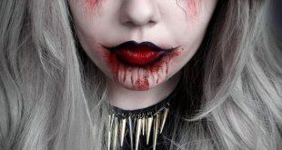 Dark halloween makeup