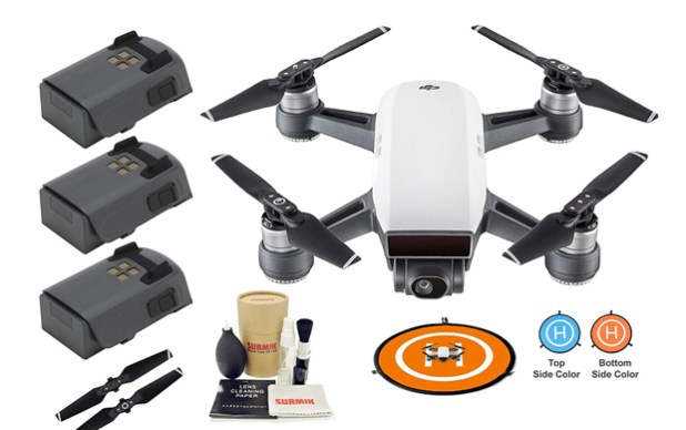 DJI Spark Drone Quadcopter with 3 batteries
