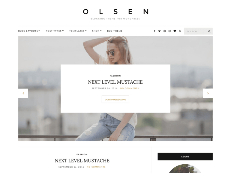 Olsen Lite free word press theme