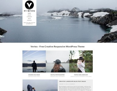 Vertex free word press theme