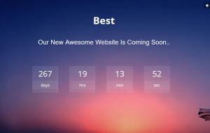 Awesome coming soon template Download