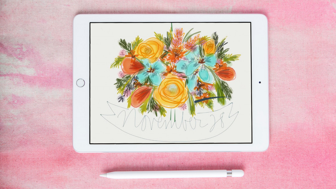 Doodling on an iPad by Pam Garrison