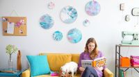 DIY Room Dcor: Painted Fabric Wall Art by Courtney ...