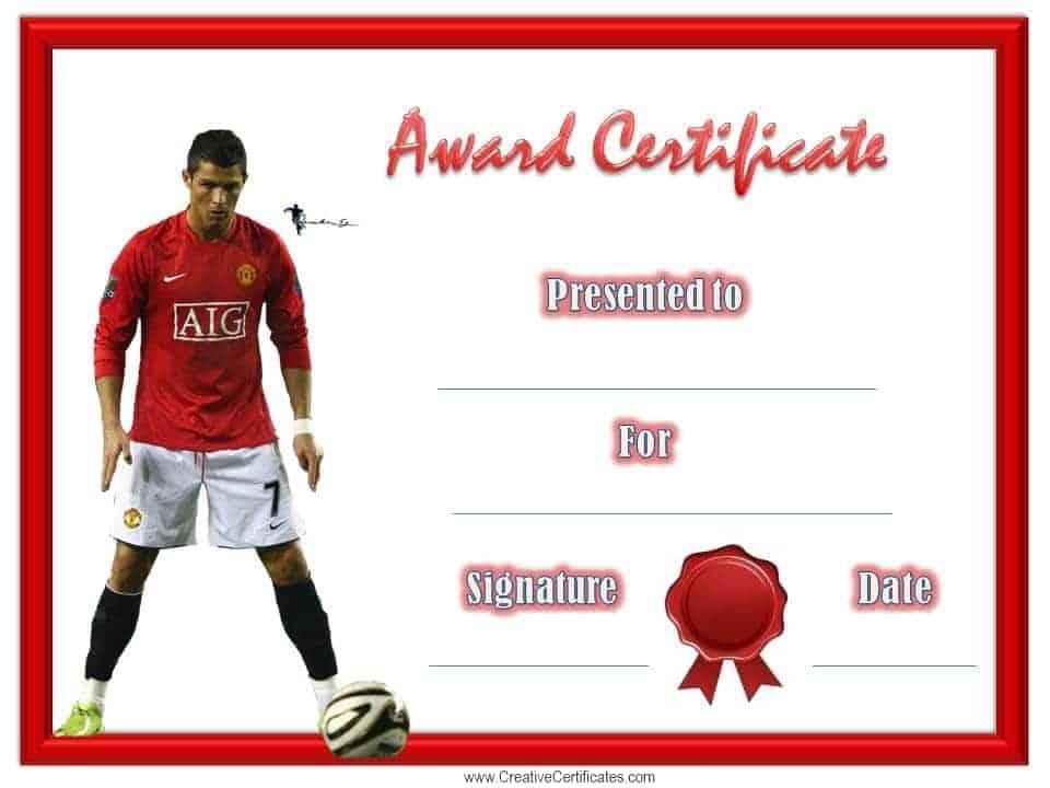 soccer award certificates templates
