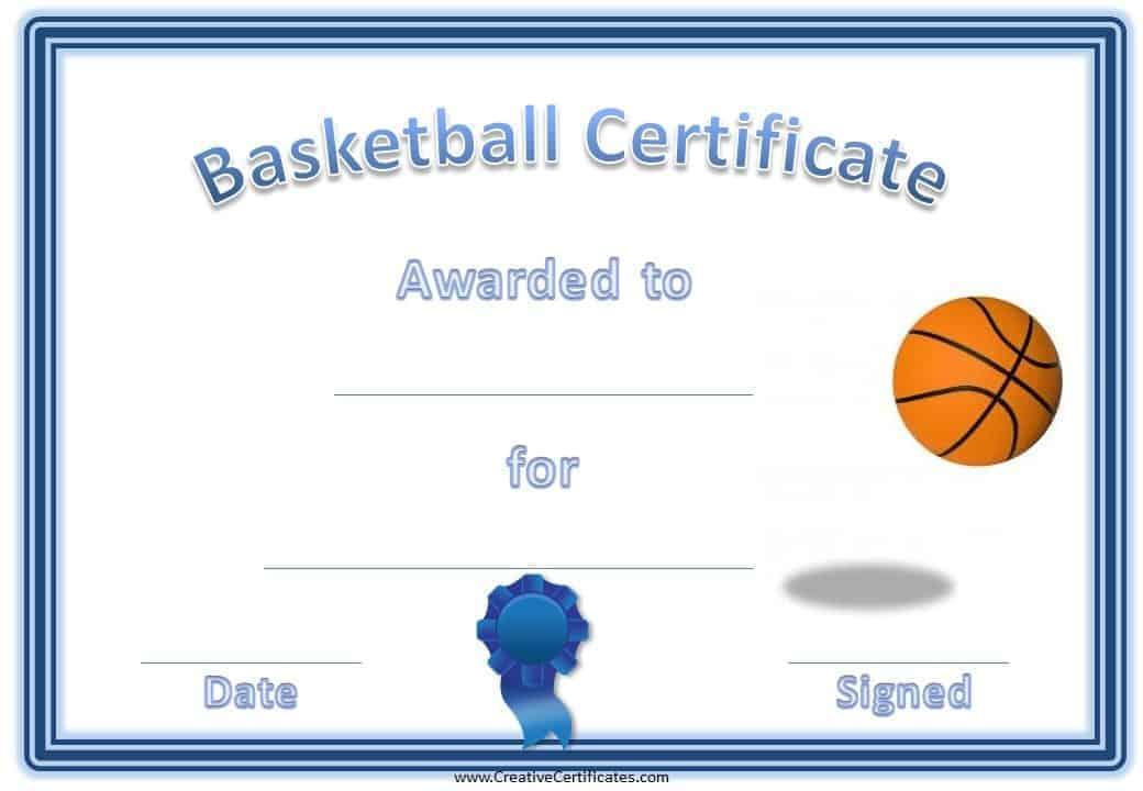 Free Editable Amp Printable Basketball Certificate Templates