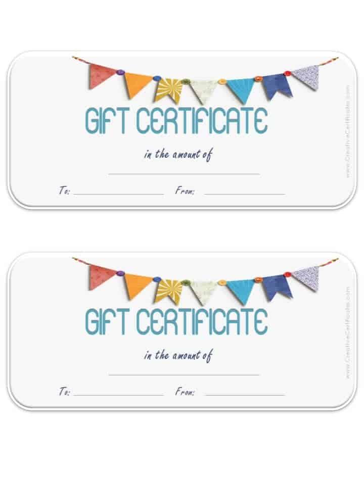 Blank Gift Certificate Template Golf