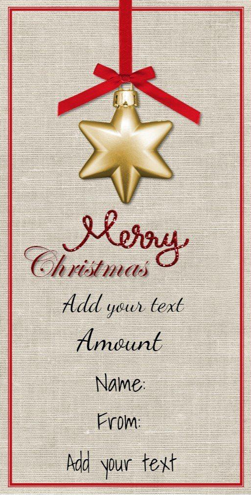 christmas gift certificate templates free printable