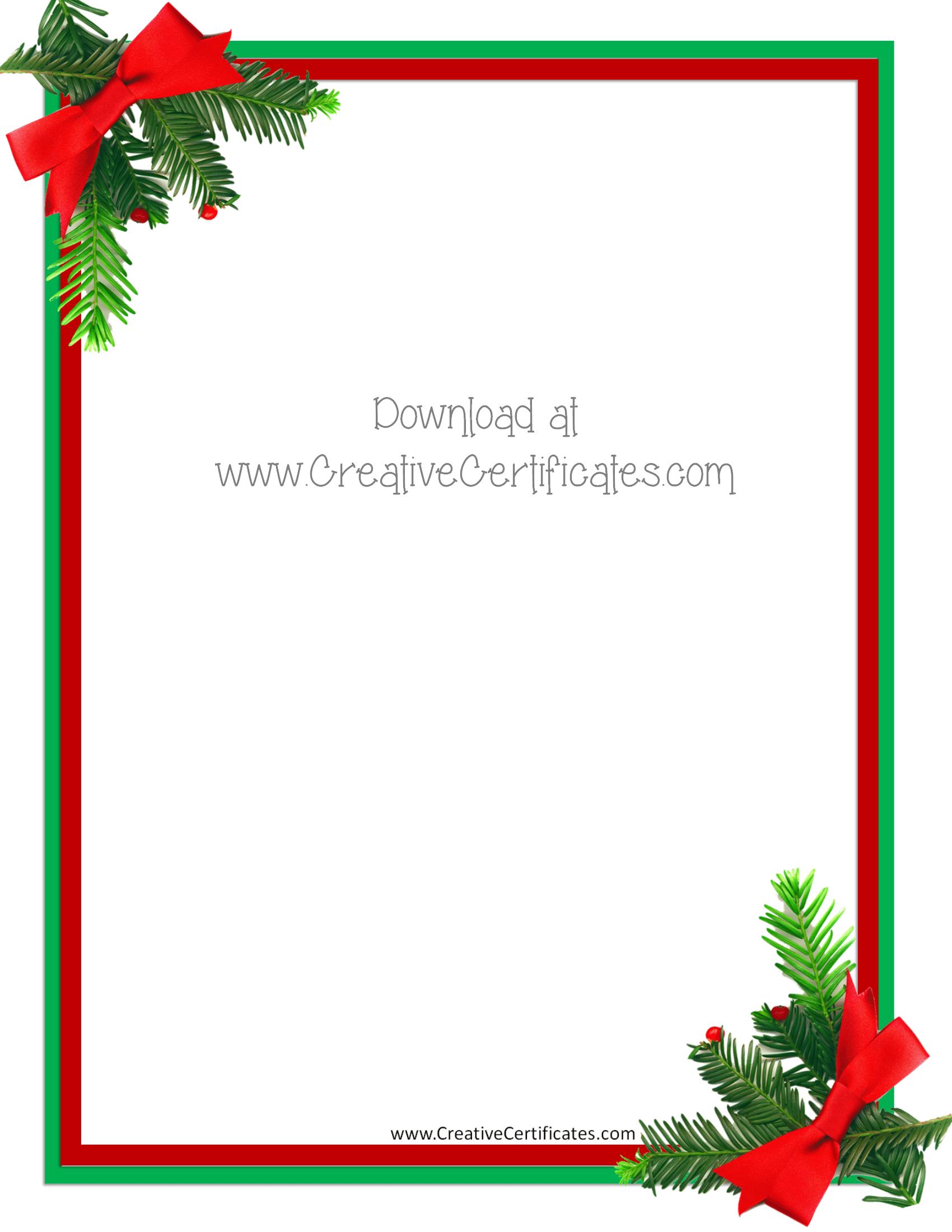 word christmas border templates free