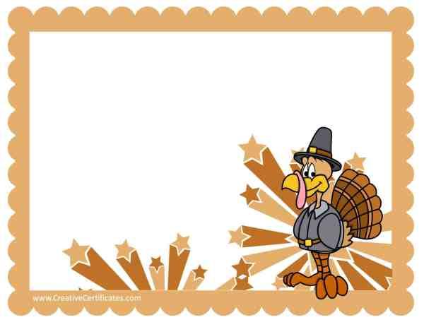 free thanksgiving border templates