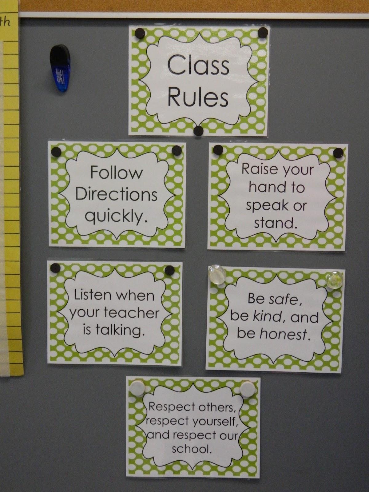 Behavior Ideas For First Grade Teachers