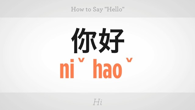 Hello China #25 video – 你好 – Creative Chinese