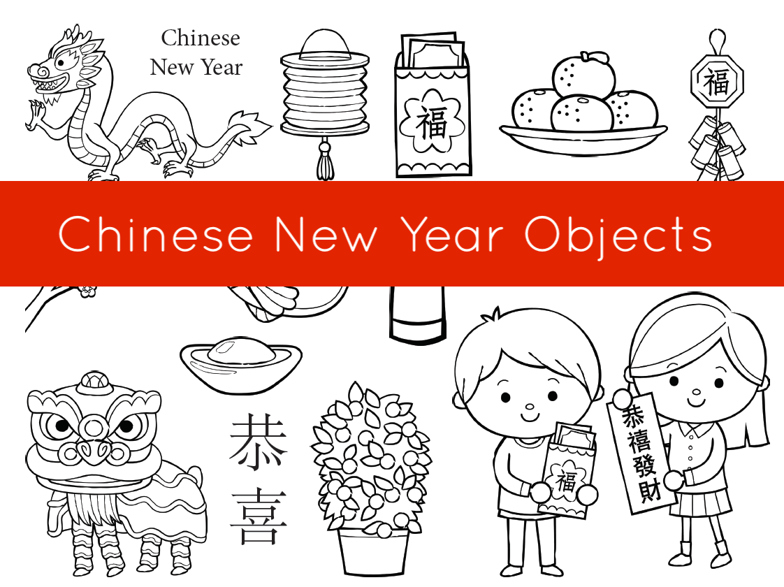 Chinese New Year Objects Creative Chinese