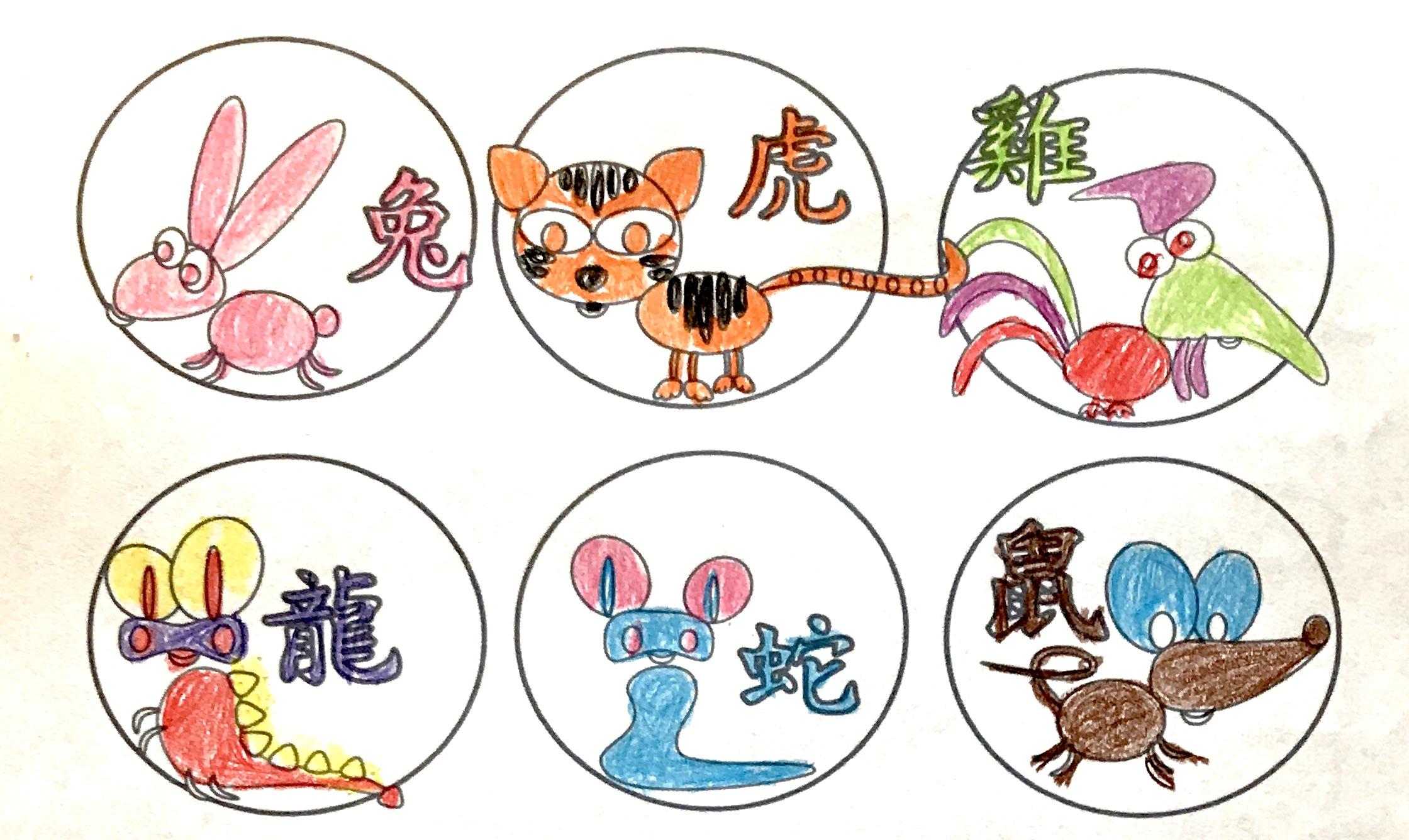 Chinese New Year Animals Of The Zodiac Creative Chinese