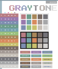 Gray tone color schemes, color combinations, color ...