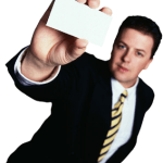 guy holding card