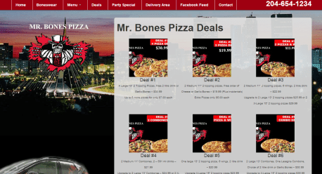 Mr. Bones Deals Page