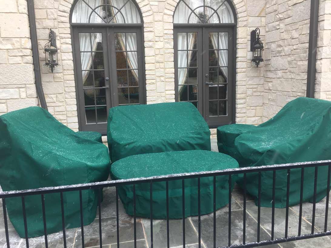 green patio chair covers best shower for elderly custom furniture creative set sunbrella forest