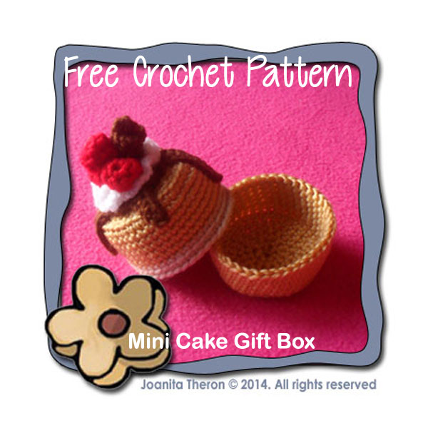 Mini Cake Gift Box Free Crochet Pattern Creative Crochet Workshop