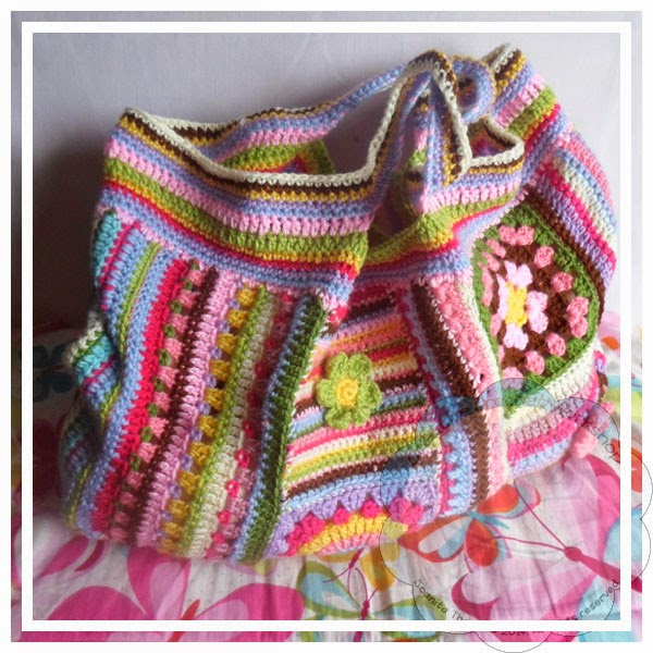 Scrapalicious Bag Part Four - A Free Crochet Along | Creative Crochet Workshop #ccwscrapaliciousbag #crochetalong #scrapsofyarn