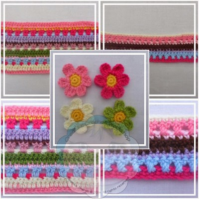Scrapalicious Bag Flowers and Stripes|Creative Crochet Workshop